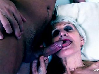 82yr old Granny Picked Up and Fucked by 19yr old Teen Guy