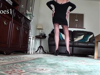 Jo shows off her gift of vintage nylons
