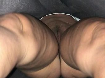 Squatting gaping dirty pussy