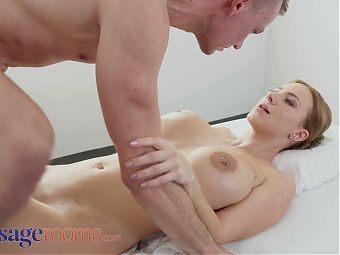 Massage Rooms – Creampie for big tits MILF Nathaly Cherie
